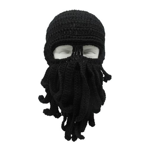 Chapéu de moustache de polvo inverno quente