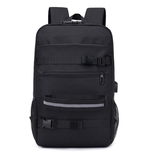 Anti-theft Skateboard Backpack with Lock and USB Port