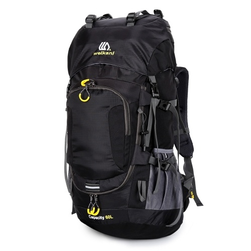 60L Waterproof Hiking Backpack Camping Mountain Climbing Cycling Backpack Outdoor Sport Bag with Rain Cover