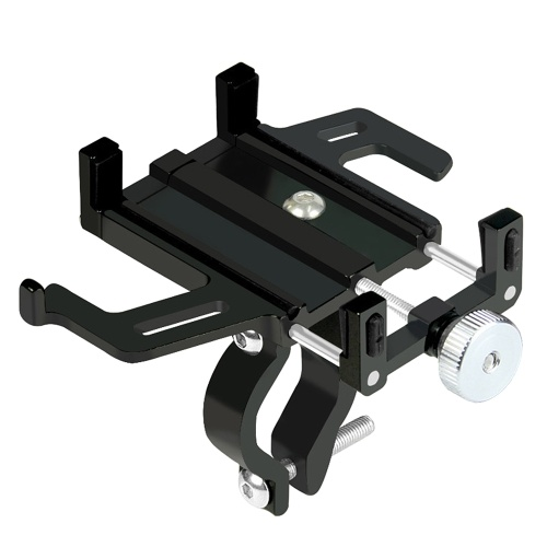 Bicycle Phone Holder Aluminum Alloy Phone Mount Adjustable Mobile Phone Support