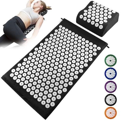 Acupuncture Mat Pillow Set Acupressure Mat Cushion Massage Pillow Pad