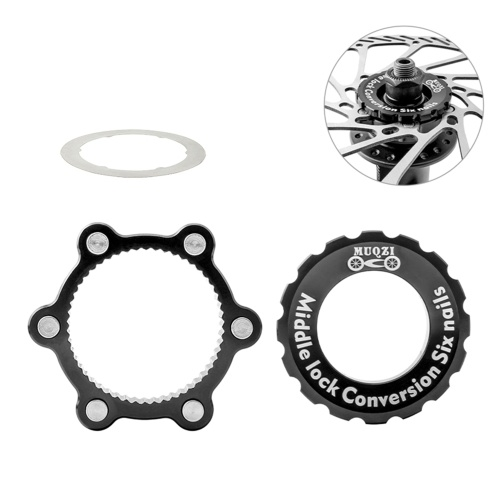 Bike 6-Bolt Rotor Adapter Bicycle 6 Hole Hub Brake Disc Conversion Base Adapter