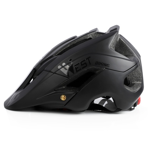 Lightweight Bike Helmet with Soft Removable Lining Pad & Visor Adjustable Men Women Trail Racing Helmet In-mold Cycling Bicycle Helmet for Road Mountain Cycling Equipment