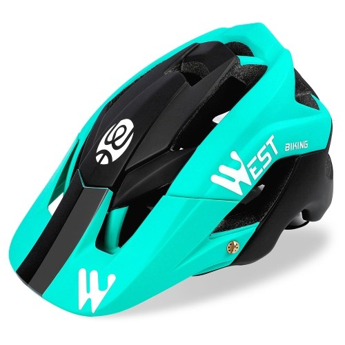 Lightweight Bike Helmet with Soft Removable Lining Pad & Visor Adjustable Men Women Trail Racing Helmet In-mold Cycling Bicycle Helmet for Road Mountain Cycling Equipment Image