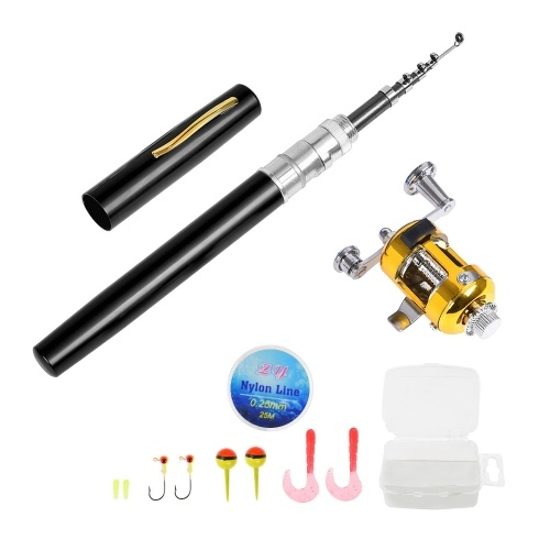 Fishing Rod and Reel Combo Set Telescopic Pocket Pen Fishing Rod