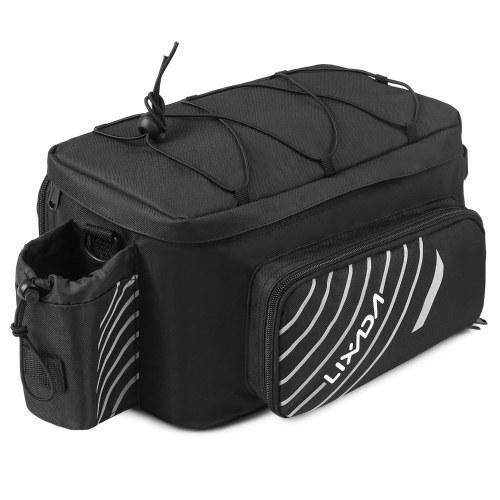 Lixada Expandable Bike Trunk Bag Bicycle Rack Rear Seat Bag Cycling Bike Luggage Carrier Bag Pannier with Rain Cover