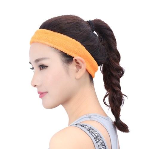Deportes Sweatband Hombres / Mujeres Elastic Headband antideslizante Fitness Hairband Athletic Cotton Terry Cloth