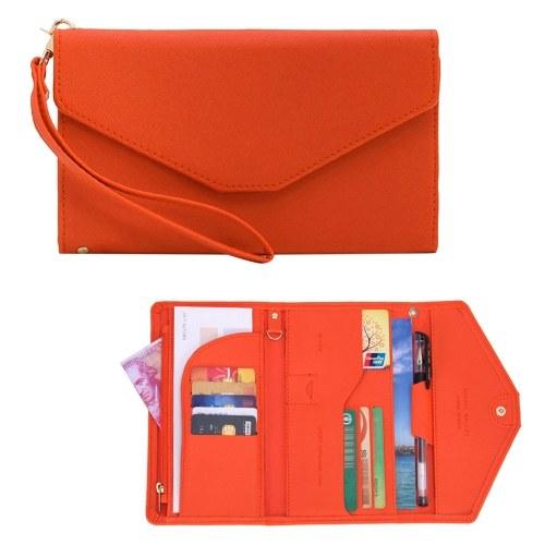 Multi Card Organizer Wallet RFID Blocking Travel Passport Holder