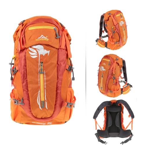 50Lアウトドアスポーツのバック ハイキング/トレッキングバッグ キャンプ/旅行防水パック 登山ナップザック