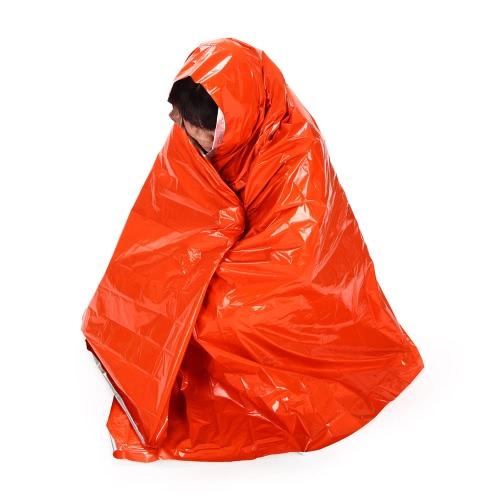 Sopravvivenza di emergenza esterna multifunzionale 210 * 130cm coperta coperta di riscaldamento di salva-vita per campeggio viaggio & escursionismo