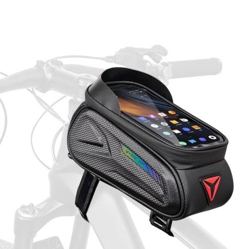 Borsa per tubo superiore per bicicletta Borsa per bicicletta impermeabile in EVA con striscia riflettente Borsa per telaio per bicicletta Borsa per bicicletta da strada