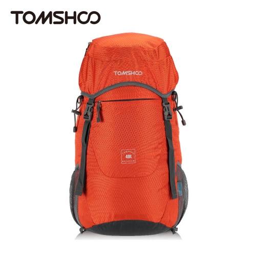 TOMSHOO 40L Ultra Lightweight Water-resistant Nylon Outdoor Backpack Travel Trekking Foldable Bag