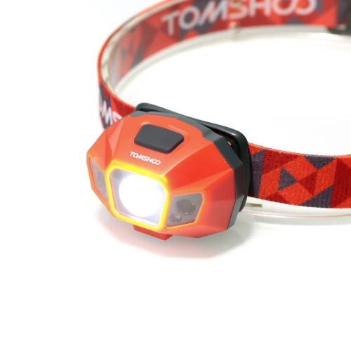 TOMSHOO 超高輝度 LED ヘッドランプ ハイパワー懐中電灯の水抵抗の USB ケーブル充電式ヘッドライト ランプ バイク キャンプその他の野外活動を登山用