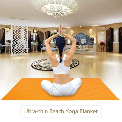 Lixada Beach Blanket Yoga Coperta Asciugamani ultra-sottili con tasche Conner ancoraggio Fits grande per due
