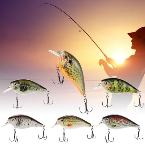 Lixada 75mm / 13g Crank рыболовную приманку Жесткий Bait с Крючки рыболовные снасти металлический шар