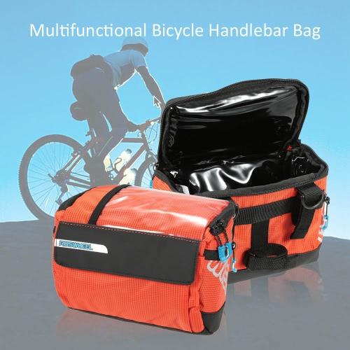 多機能サイクリング自転車自転車ハンドルバーバッグバスケットバッグフロントチューブポケットアウトドアスポーツショルダーパック