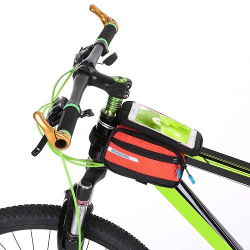 Multifuncitonal Cyling anteriore della bici Frame Bag tubo Pannier della bicicletta pacchetto Pannier con doppia busta