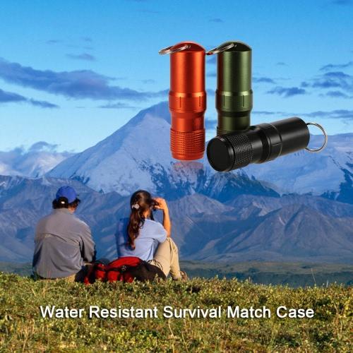 毎日キャリー防水キーセーフコンテナギアアルミ合金を運ぶことができるキャップサバイバルマッチピルケースに一致します