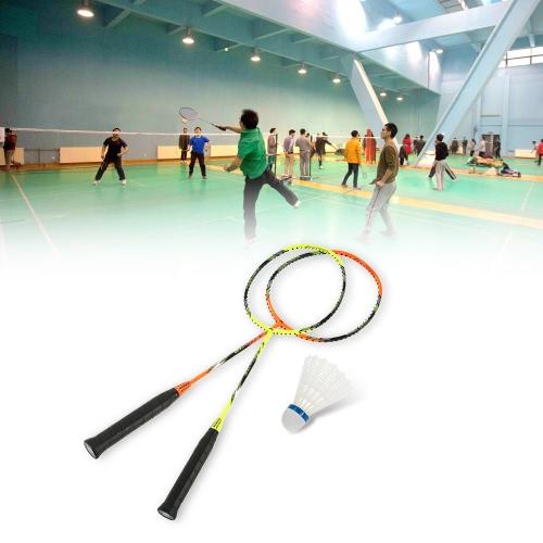 Image of Carbon Fiber Badminton Schläger Indoor Outdoor Badminton Training Schläger Single Racket Unstrung