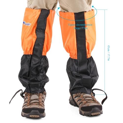 1 coppia Gaiters gamba nera Cinghia di protezione del pattino di neve della cinghia Outdoor Gaiter per l'arrampicata Sci River Tracing