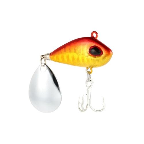 Esca da pesca realistica da pesca 4cm / 25g Swimbait VIB Hard Bait Fish Treble Hook