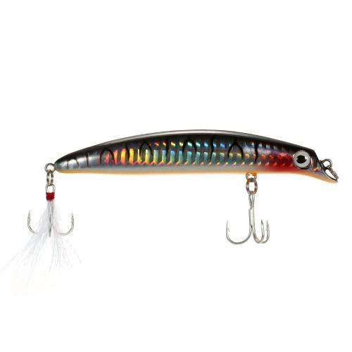 10.5cm 13g Minnow Lures Искусственная жесткая рыбалка Приманка для приманки с соломенными глазками Высокие крючки