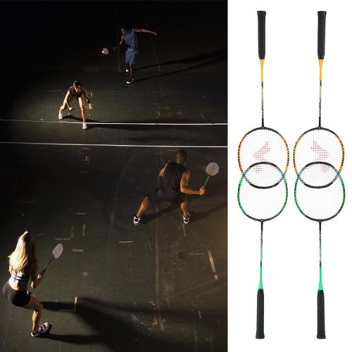 2 Player Бадминтон Набор для замены ракетки Ультра легкое углеродное волокно Бадминтон с сумкой фото