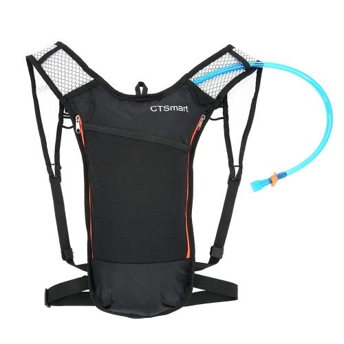 5L Trinkrucksack mit 2L Blase Wasserbeständig Breathable Fahrrad Schulter Rucksack Groß für Outdoor-Sportarten von Laufen Wandern Camping Radfahren Skifahren