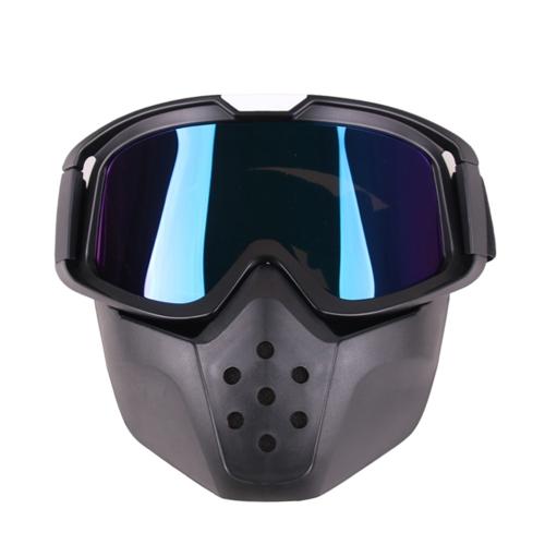 Lenti Occhiali da moto Maschera Motocross Maschera Occhiali Occhiali rimovibili Occhiali antivento anti-polvere all'aperto