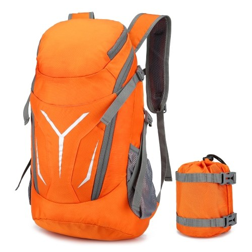 30L Lightweight Folding Backpack Water Repellent Bag for Cycling Camping Climbing Hiking Traveling Schooling Image