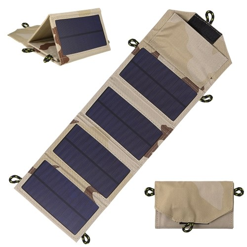 Sorgente di alimentazione portatile con pannello solare alimentato da caricabatterie solare pieghevole da 7W