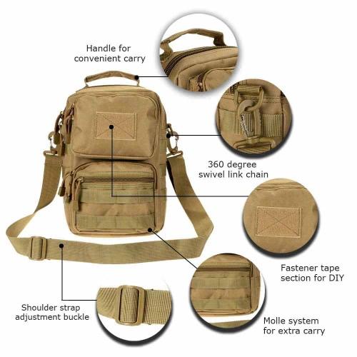 Borsa a tracolla Tactical Outdoor Pack borsa a tracolla borsa a tracolla regolabile per campeggio & caccia