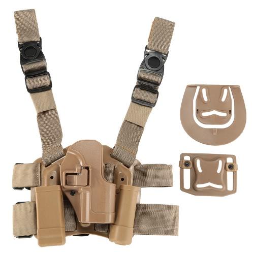 4 in 1 tattica di caccia di Airsoft del piedino di goccia coscia Piattaforma Rig Holster con 2 sacchetti per USP Pistols
