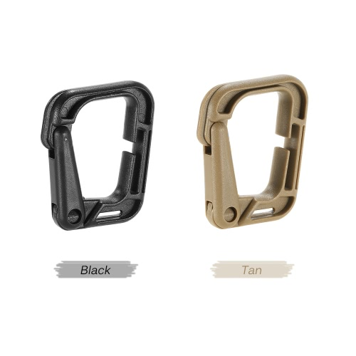Pack of 10 Multipurpose D-Ring Locking Hanging Hook Link Snap Keychain for Molle Webbing