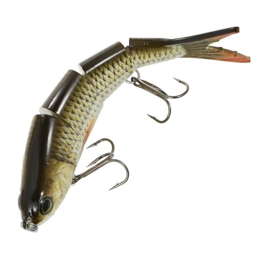 Lixada 1 STÜCKE Fischköder 4 Abschnitte Harte Köder 3D Simulation Köder Große Segmentierte Künstliche Köder VIB Köder Drillingsfischen Werkzeug