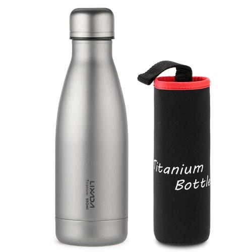 Lixada 550ml / 680ml Titanium Water Bottle Lightweight