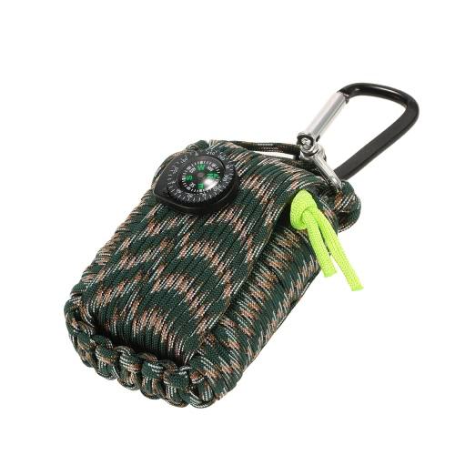 Lixada 30 Accesorios Kit de supervivencia de la emergencia de la vaina Envuelta en 330lb supervivencia granada Cuerda para Emergencias