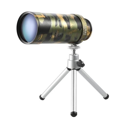 Tasca portatile Dimensioni 10x50 Monoculare pieghevole monoculare pirata telescopio ottico del prisma Cannocchiale mani visione gratuita Scope con treppiede
