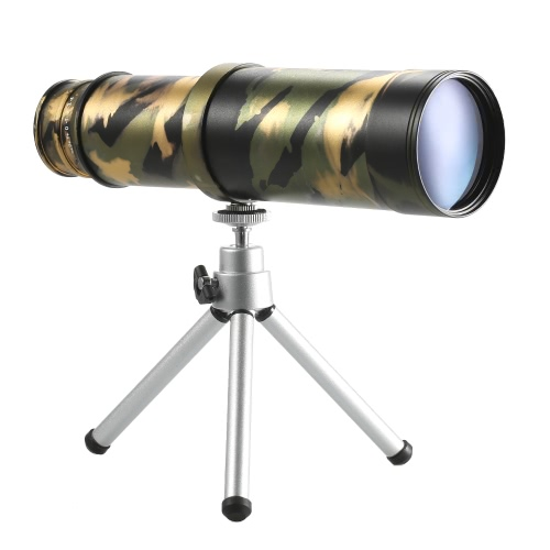 Portable Pocket Size 10x50 Monocular Collapsible Monocular Pirate Telescope Optical Prism HD Spotting Scope Hands Free Viewing Scope with Tripod