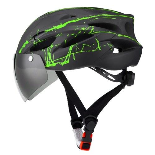 TOMSHOO Bike Helmet with Goggles,MTB Helmet Riding helmet Cycling Helmet Image