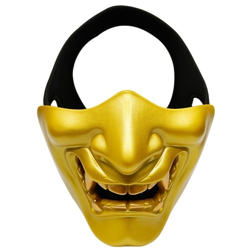 Máscara de media cara Máscara protectora de la cara inferior para juegos de camping Fiesta de cosplay