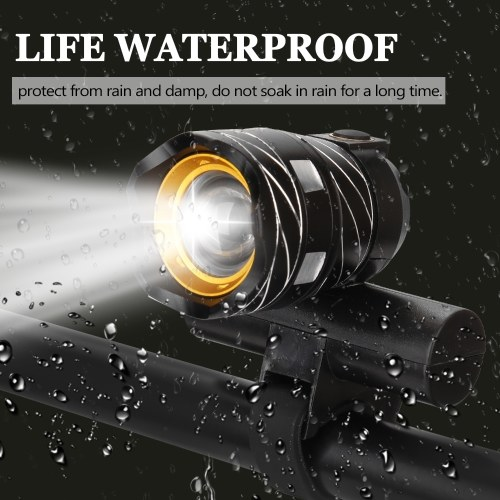 Outdoor Zoomable T6 Bicycle Light Bike Front Lamp Torch Headlight Image