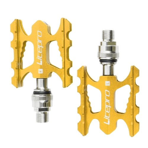 Litepro Quick Release Bicycle Pedal Folding Bikes Aluminum Alloy Bearing Pedal Refitting Accessories Road Bicycle Pedal Image
