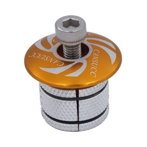CANSUCC Ultra-Light Bicycle Expander Plug 1-1/8 Inch 28.6mm Bike Fork Headset Top Cap Cover Star Nut Plug for MTB Mountain Bike Road Bike