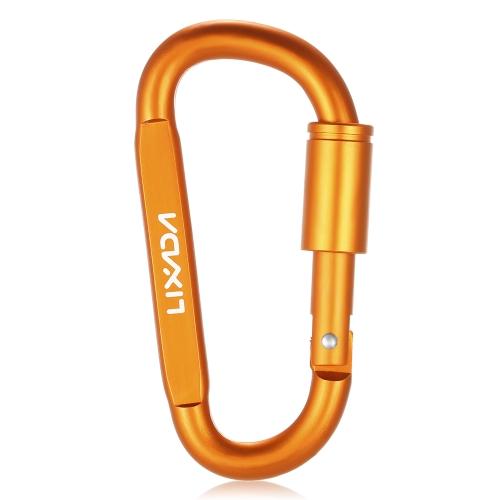 Lixada Aluminiumlegierung D-ring Locking Karabiner Screw Lock Hängen Haken Schnalle Schlüsselbund für Outdoor Camping Wandern