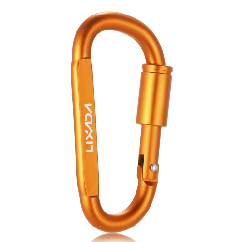 Lixada Aluminum Alloy D-ring Locking Carabiner Screw Lock Hanging Hook Buckle Keychain for Outdoor Camping Hiking