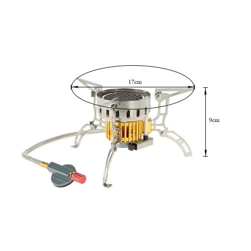 Открытый инфракрасный Кемпинг Плита Ultralight Портативный Печь складная ветрозащитный Газовая плита Мини Горелка для Пикник Пикник Туризм Backpacking