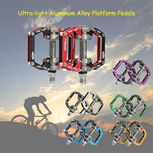 Педаль ROCKBROS Ультра легкий алюминиевый сплав MTB велосипед Flat Педали дорожный велосипед Велоспорт Hollow Платформа Педали