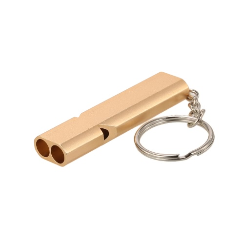 2PCS High Frequency Emergency Double Tube Whistle