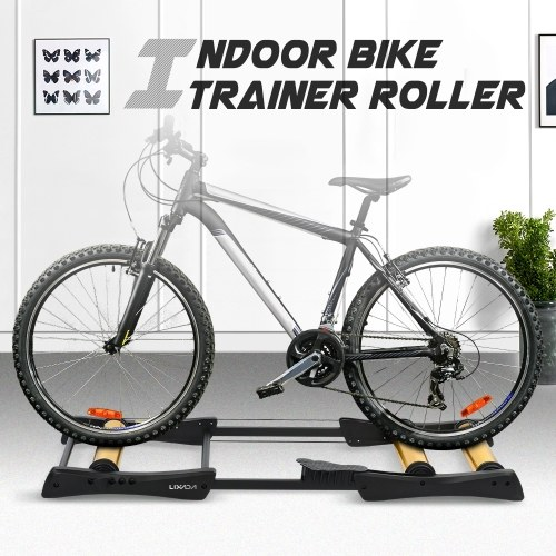 Lixada Bike Roller Trainer Indoor Bicycle Cycling Trainer Training Station Bike Exercise Fitness Stand Tool